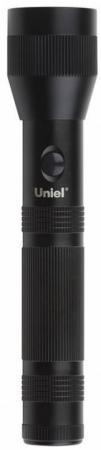 Охранный светодиодный фонарь Uniel (10173) от батареек 269х55 120 лм S-LD040-C Black ручной светодиодный фонарь uniel 03248 от батареек 30 лм s ld014 c silver