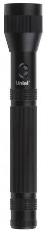 Охранный светодиодный фонарь Uniel (10175) от батареек 317х55 150 лм S-LD041-C Black ручной светодиодный фонарь uniel 03248 от батареек 30 лм s ld014 c silver