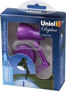 Фонарь на прищепке Uniel (UL-00000195) от батареек 105х38 30 лм S-KL019-B Purple ручной светодиодный фонарь uniel 03248 от батареек 30 лм s ld014 c silver