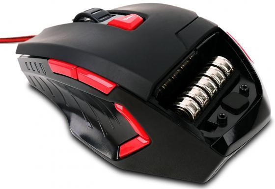 лучшая цена Мышь проводная Lenovo M600 чёрный красный USB GX30J22781