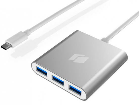 Фото - Концентратор USB 3.0 HIPER C4 4 х USB 3.0 серебристый внешний аккумулятор для портативных устройств hiper circle 500 blue circle500blue