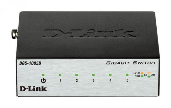 Коммутатор D-LINK DGS-1005D/I2A неуправляемый 5 портов 10/100/1000Mbps dgs 1008p