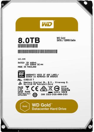 Жесткий диск 3.5 8Tb 7200rpm Western Digital SATAIII WD8002FRYZ жесткий диск 3 5 8 tb 5400rpm 128mb cache western digital purple sataiii wd80purz