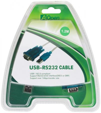 Кабель-адаптер USB 2.0 AM-COM 9pin Aopen ACU804 RS232 factory wholesale hc25 modem for rs232 usb wcdma modem