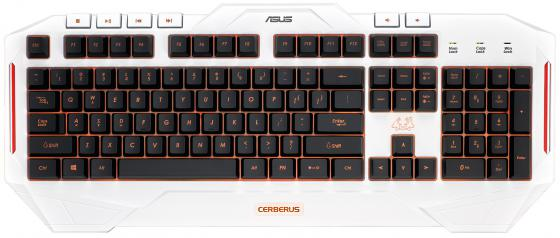 Клавиатура проводная ASUS Cerberus Arctic USB белый 90YH00V1-B2RA00 клавиатура asus strix tactic pro cherry mx black black usb 90yh0081 b2ra00