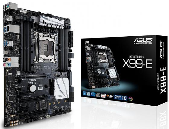 все цены на  Материнская плата ASUS X99-E Socket 2011-3 X99 8xDDR4 3xPCI-E 16x 2xPCI-E 1x 8xSATAIII ATX Retail  онлайн