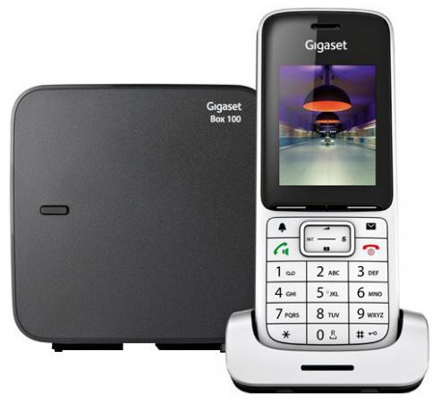 Радиотелефон DECT Gigaset SL450/SYS серебристый/черный радиотелефон dect gigaset sl450 sys серебристый черный