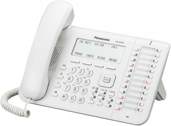 Телефон Panasonic KX-DT546RU белый радиотелефон dect panasonic kx tg6811rub черный