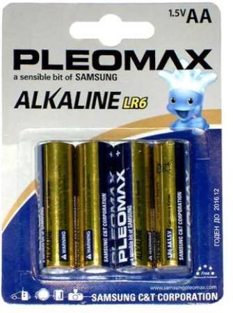 Батарейки Samsung Pleomax LR6-4BL AA 4 шт samsung pleomax 1014 4aa aaax2700mah car adapter