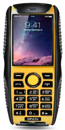 """все цены на Мобильный телефон GINZZU R41D черный жёлтый 2.2"""" онлайн"""