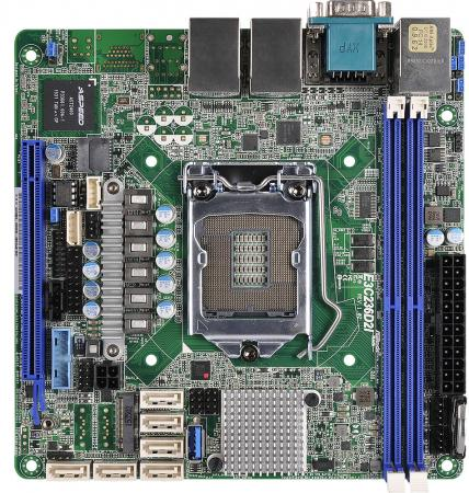 Материнская плата ASRock E3C236D2I Socket 1151 C236 2xDDR4 1xPCI-E 16x 6xSATAIII mini-ITX мат плата для пк asrock h110m itx socket 1151 h110 2xddr4 1xpci e 16x 4xsataiii mini itx retail
