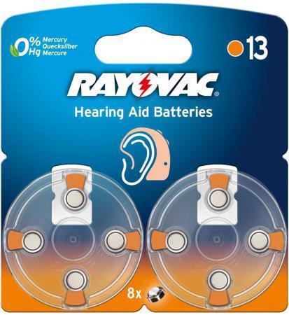 Батарейки Varta Rayovac acoustic Type 10 PR70 8 шт 5000252003809 varta varta rayovac hearing aid ha675