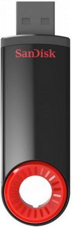 Флешка USB 64Gb SanDisk Cruzer Dial SDCZ57-064G-B35 черный/красный usb флешка sandisk cruzer 256gb черно красный