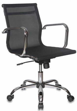 Кресло Бюрократ CH-993-LOW/M01 низкая спинка сетка крестовина хром черный цена