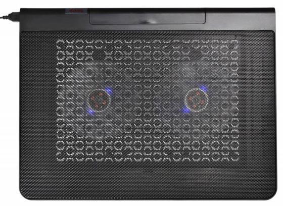 Подставка для ноутбука 17 Buro BU-LCP170-B214 металл/пластик 1400об/мин 23db черный подставка для ноутбука до 15 6 cooler master notepal x slim ii r9 nbc xs2k gp пластик металл 900об мин 23db черный