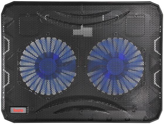Подставка для ноутбука 15.6 Buro BU-LCP156-B214 металл/пластик 1000об/мин 22db черный подставка для ноутбука buro bu lcp156 b208 15 6355x260x21мм 2xusb 2x 80ммfan 560г металлическая сет