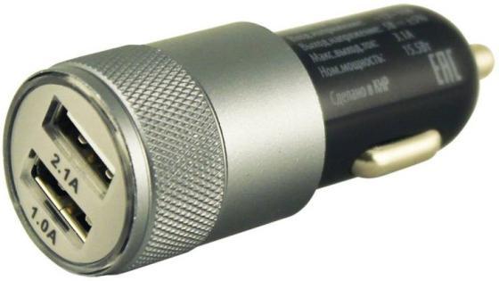 Автомобильное зарядное устройство BURO TJ-189 2.1/1А 2 х USB черный