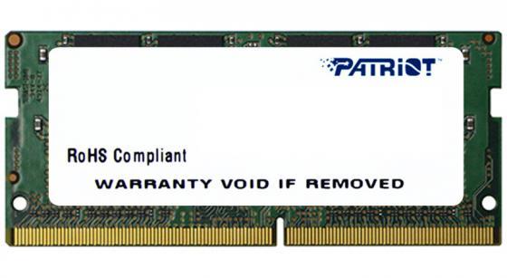 Фото - Оперативная память для ноутбука 4Gb (1x4Gb) PC4-17000 2133MHz DDR4 SO-DIMM CL15 Patriot PSD44G213381S оперативная память patriot memory sl 4gb ddr4 2133mhz dimm 288pin cl15 psd44g213381