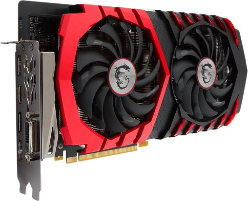 Видеокарта 6144Mb MSI GeForce GTX 1060 GAMING X 6G PCI-E 192bit GDDR5 DVI HDMI DP HDCP Retail видеокарта 8192mb msi geforce gtx 1080 gaming x 8g pci e 256bit gddr5x dvi hdmi dp retail
