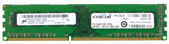 Оперативная память 4Gb PC3-12800 1600MHz DDR3 DIMM Crucial CT51264BD160B