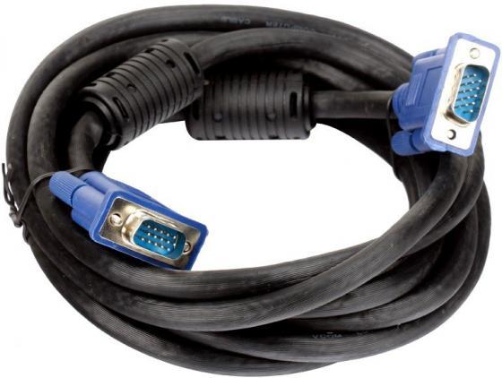 Фото - Кабель VGA 3м VCOM Telecom VVG6448 круглый черный кабель vga 1 8м vcom telecom vvg6460 2mo круглый черный
