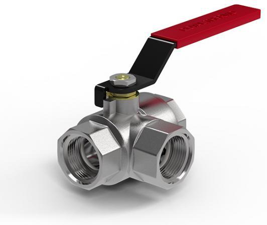 """Кран шаровый Royal Thermo OPTIMAL трехходовой тип L 1/2"""" RTO.07.041  цена и фото"""