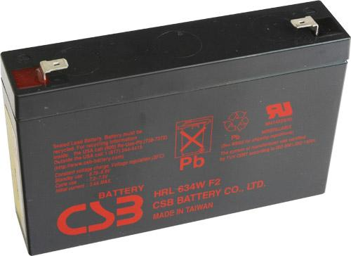 Батарея CSB HRL634W F2 6V/9AH HRL634WF2FR аккумулятор csb gp1272 28w 12v7ah f2