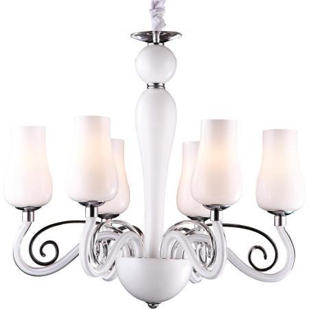 Подвесная люстра Arte Lamp Biancaneve A8110LM-6WH подвесная люстра arte lamp biancaneve a8110lm 8wh