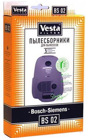 Комплект пылесборников Vesta BS 02 5шт + фильтр vesta filter zr 02 s комплект пылесборников 4 шт 2 фильтра