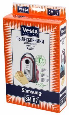 Комплект пылесборников Vesta SM 07 5шт комплект пылесборников vesta lg 03 5шт