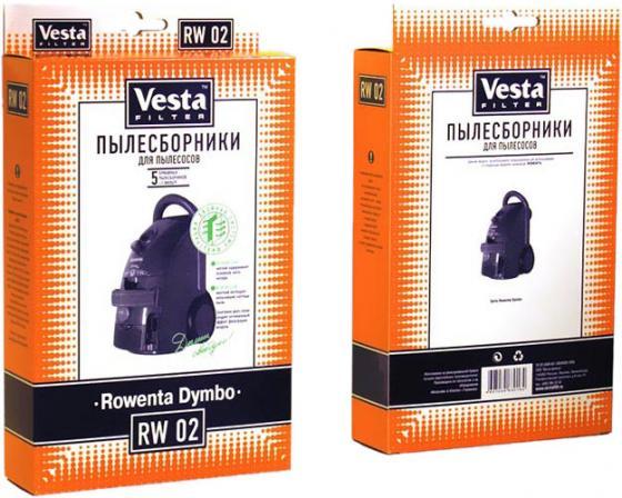 цена на Бумажные пылесборники Vesta filter RW 02, для пылесосов(см описание), 5 шт в упаковке + фильтр