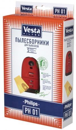 Комплект пылесборников Vesta PH 01 5шт + фильтр цена