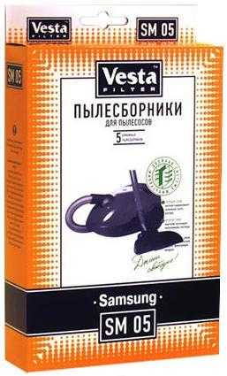 Комплект пылесборников Vesta SM 05 5шт комплект пылесборников vesta lg 03 5шт