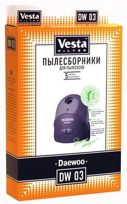 Комплект пылесборников Vesta DW 03 5шт vesta dw 05