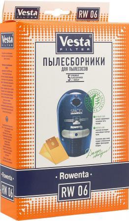 цена на Бумажные пылесборники Vesta filter RW 06, для пылесосов(см описание), 5 шт в упаковке + фильтр