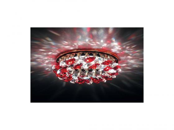 Встраиваемый светильник Donolux DL061.02.1/6 crystal/red