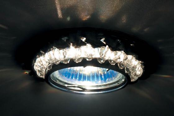 Встраиваемый светильник Donolux DL062.02.1/12 crystal/jet точечный светильник donolux dl062 02 1 12 crystal jet