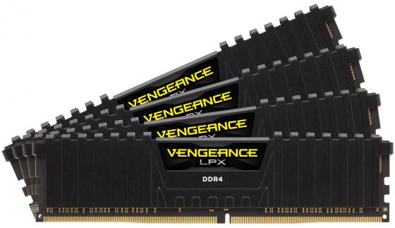 Оперативная память 64Gb (4x16Gb) PC4-24000 2400MHz DDR4 DIMM Corsair CMK64GX4M4A2400C16 цена и фото