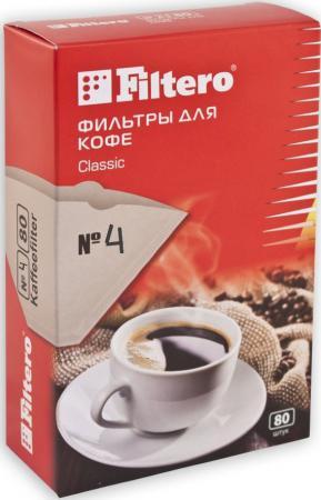 Фильтр для кофе Filtero №4/80 коричневый цена и фото
