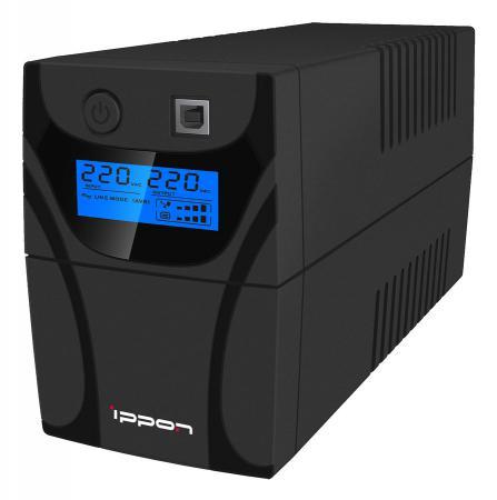 ИБП Ippon Back Power Pro LCD 400 240Вт 400ВА черный стоимость