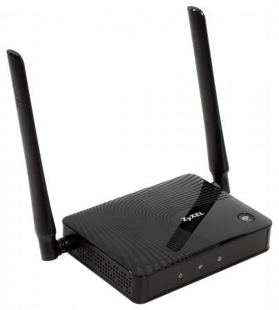 Беспроводной маршрутизатор Zyxel Keenetic Lite III 802.11n 300Mbps 2.4 ГГц 4xLAN черный интернет центр keenetic omni ii черный