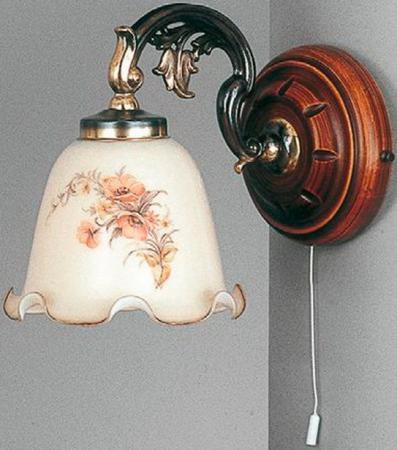 Бра Reccagni Angelo A 965/1 DEC декор impronta ceramiche shine batik oro dec a 24x59