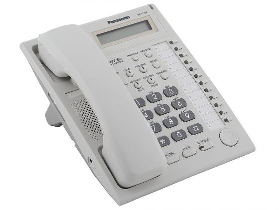 Системный телефон Panasonic KX-T7730RU белый системный телефон panasonic kx dt546rub черный [kx dt546ru b]