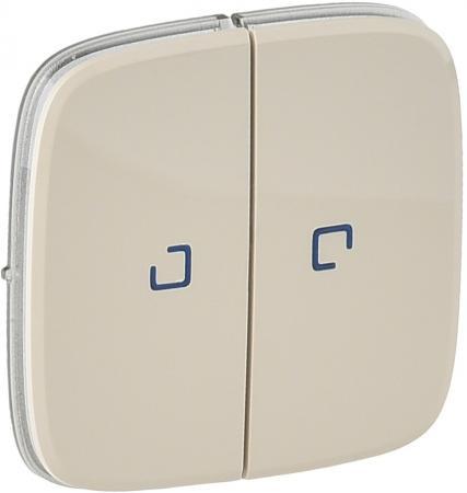 Лицевая панель Legrand Valena Allure для выключателя 2-клавишного с подсветкой cлоновая кость 755226
