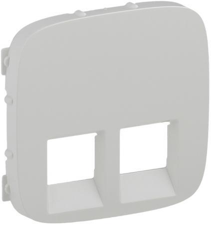 Лицевая панель Legrand Valena Allure для двойных телефонных/информационных розеток белый 755425