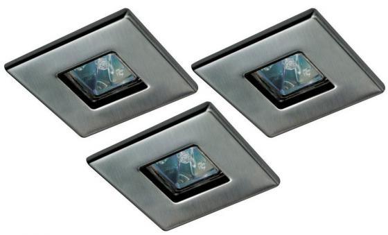 Встраиваемый светильник (в комплекте 3 шт.) Paulmann Quality Quadro 99543 встраиваемый светильник в комплекте 3 шт paulmann quality quadro 99543