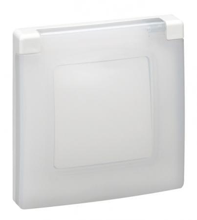 Рамка Legrand Etika с защитной крышкой IP44 белый 672550 legrand 61765