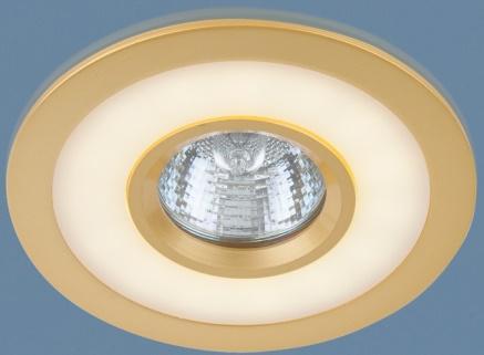 Встраиваемый светильник с двойной подсветкой Elektrostandard 1052 MR16 GD золото 4690389061684 светильник встраиваемый акцент 16001ba жемчужное золото золото