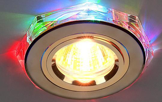 Встраиваемый светильник с двойной подсветкой Elektrostandard 2020 MR16 золото/мульти 4607176194807 elektrostandard встраиваемый светильник с двойной подсветкой elektrostandard n4 s g4 multi мульти 4690389003189