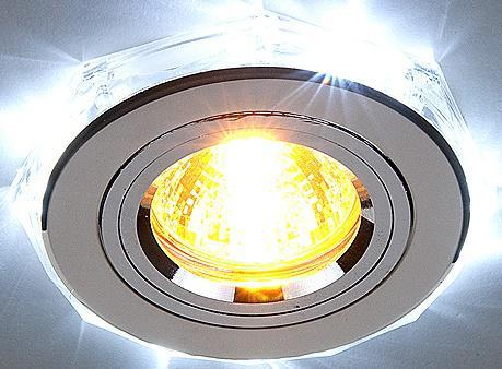 Встраиваемый светильник с двойной подсветкой Elektrostandard 2020 MR16 хром/белый 4690389007491 встраиваемый светильник с двойной подсветкой 2020 mr16 хром белый 4690389007491 elektrostandard 1168587